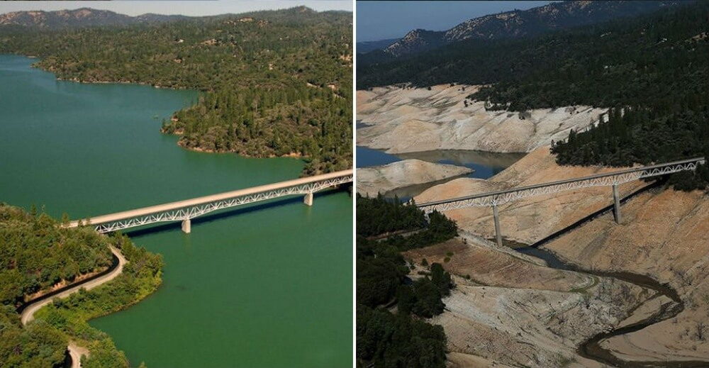 Lake Oroville, California. July, 2010 — August, 2016