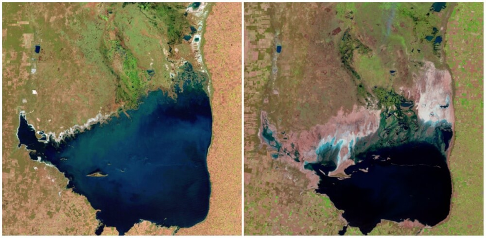 Mar Chiquita Lake, Argentina. July, 1998. — September, 2011