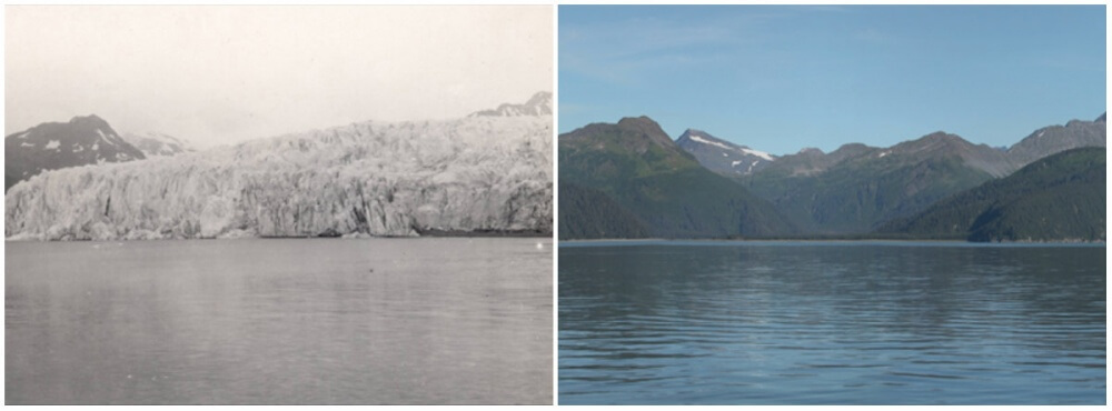 McCarty Glacier, Alaska. July, 1909 — August, 2004