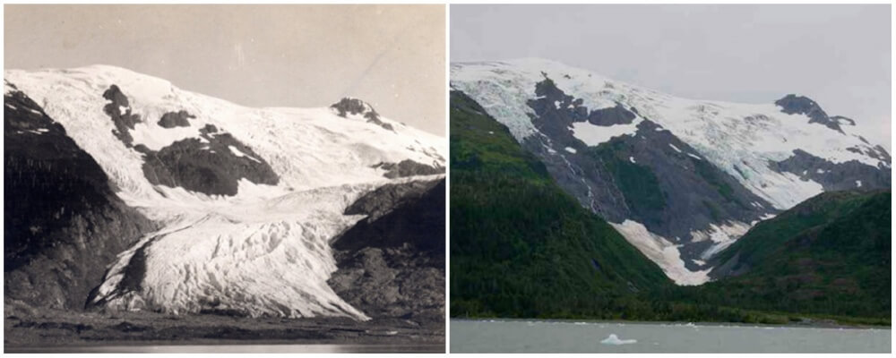Toboggan Glacier, Alaska. June, 1909 — September, 2000